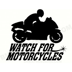 Watch for Motorcycles Sport...