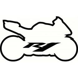 Yamaha R1 Sport Bike Logo...