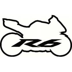 Yamaha R6 Sport Bike Logo...